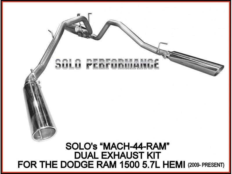 2009 2018 mach44 dual cat back exhaust kit dodge ram 1500 hemi pick up