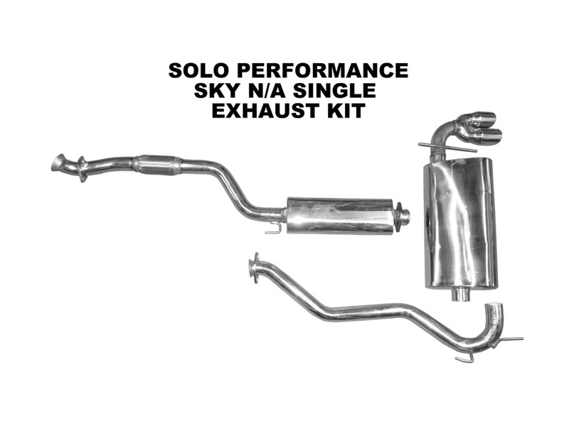 2006-2009 Sky Single CAT Back Exhaust Kit Saturn Sky 2.4L