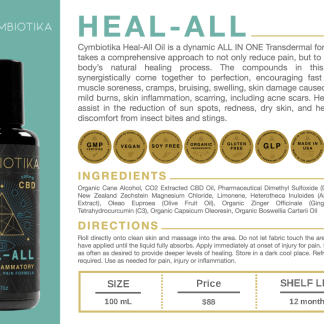 Heal All Anti Inflammatory Formula - Cymbiotika Premium Organic Herbal Supplements