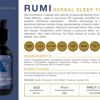 Rumi Herbal Sleep Tonic - Cymbiotika Premium Organic Herbal Supplements