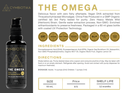 The Omega: Essential Fatty Acids - Cymbiotika Premium Organic Herbal Supplements