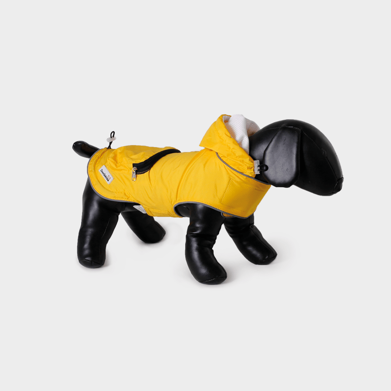 Yellow Mac-in-a-Pack rain jacket by Doodlebone®