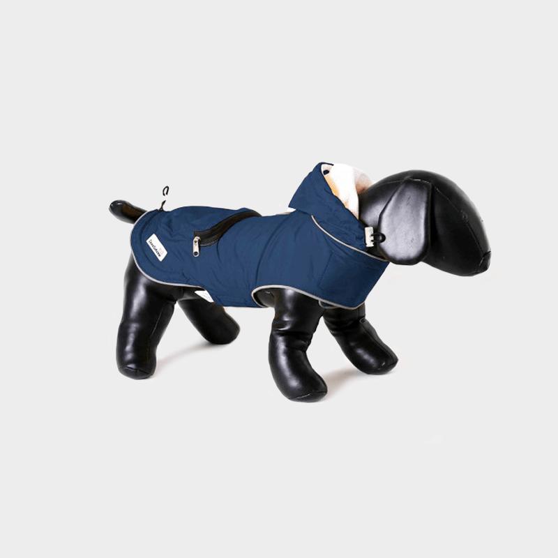 Blaue Mac-in-a-Pack Regenjacke von Doodlebone®