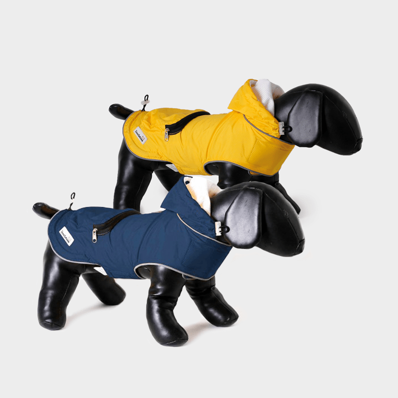 Both colors of the Mac-in-a-Pack rain jacket by Doodlebone®