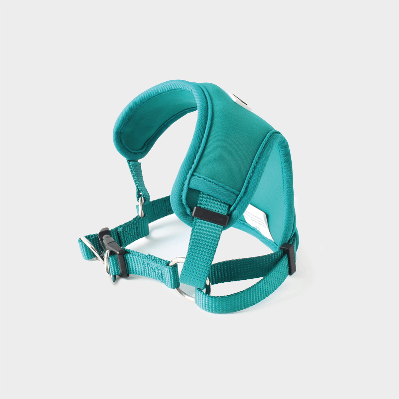 Blue-green Neo-Flex neoprene dog harness by Doodlebone®