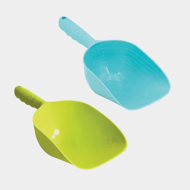 Pelle pour nourriture sèche ou litière pour chat de Happy Pet pour bleu et vert
