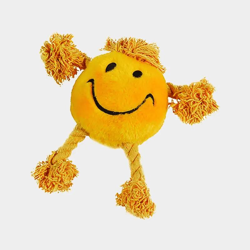 Hundespielzeug Happy Faces von Happy Pet in der Farbe gelb
