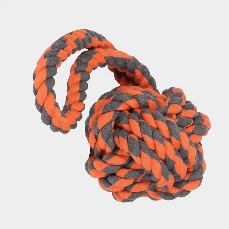 Nuts for Knots Extreme Ball mit Schlaufen von Happy Pet mit den Maßen 60 x 24 x 24 cm
