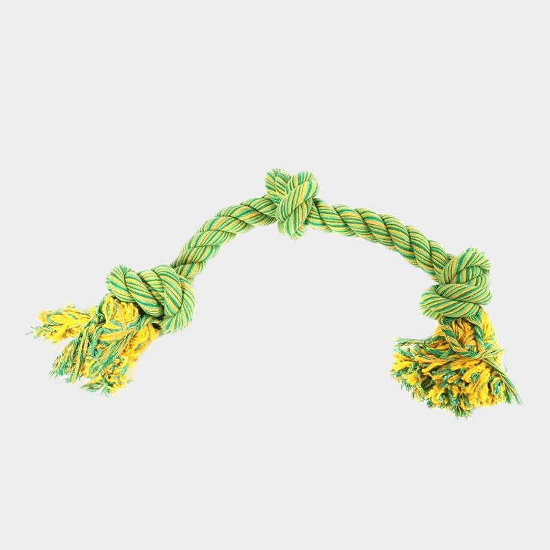 Grünes Spieltau mit drei Knoten Nuts for Knots von Happy Pet