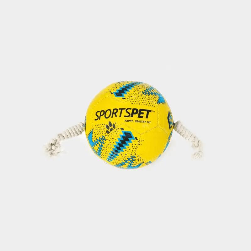 Gelb-blauer Fußball Größe 1 ca. 145 mm Ø von SPORTSPET