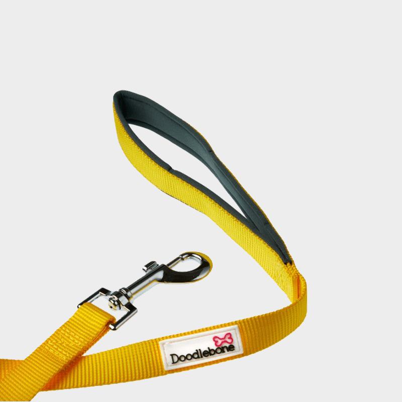 Gelbe, gepolsterte Leine Bold von Doodlebone®