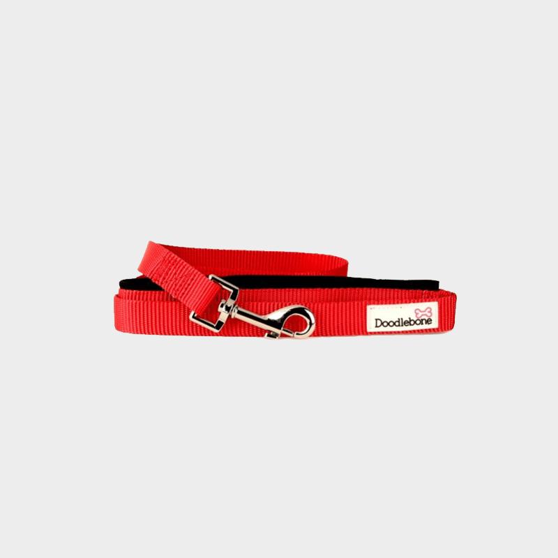 Rote, gepolsterte Leine Bold von Doodlebone®