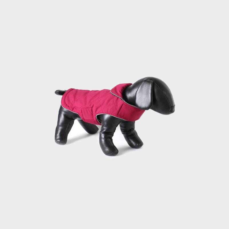 Himbeerfarbende Tweedy-Hundejacke (Wendejacke) von Doodlebone®