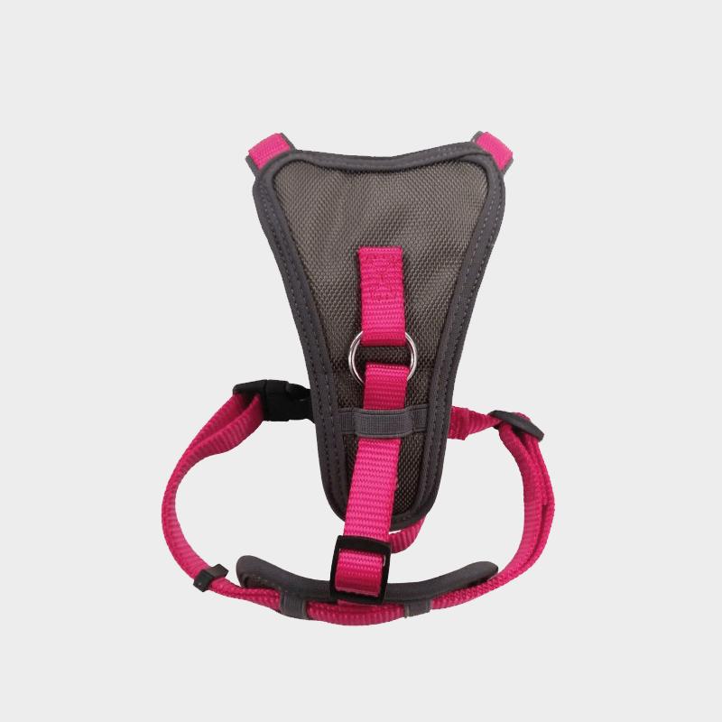 Neon-pinkes X-Over Hundegeschirr von Doodlebone®