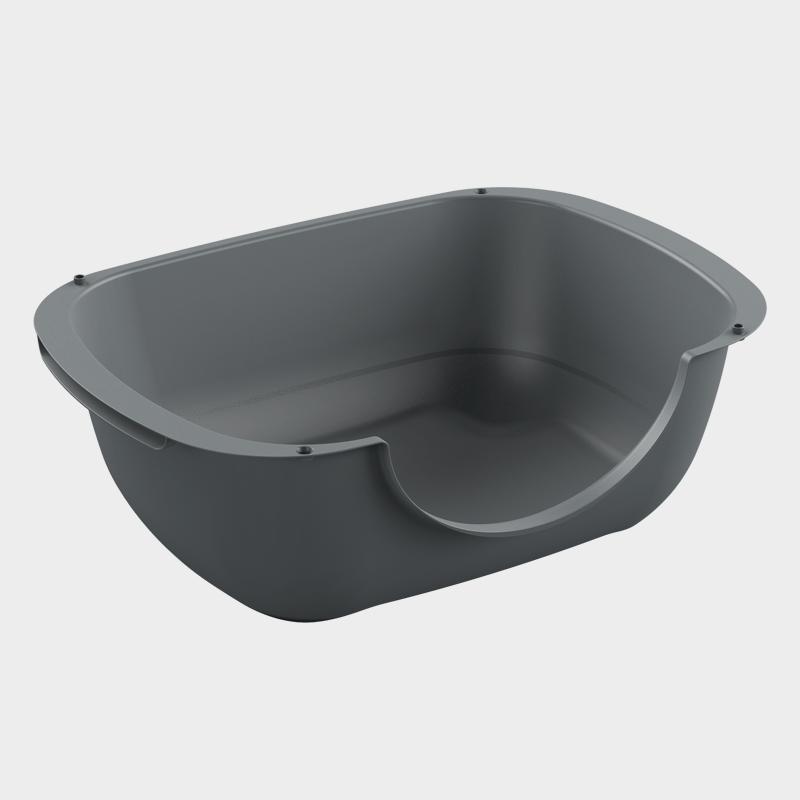 Rotho MyPet Bella 3 in 1 Katzentoilette – in der Variante schwarz