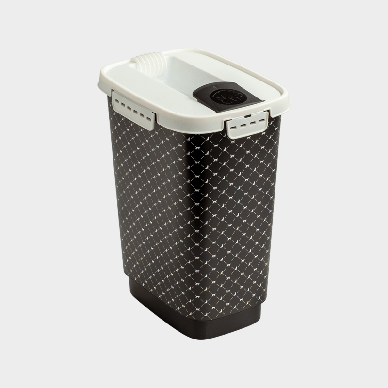 Rotho MyPet feed container variant black white 10 l