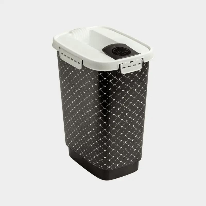Rotho MyPet Futterbehälter Variante schwarz weiß 10 l