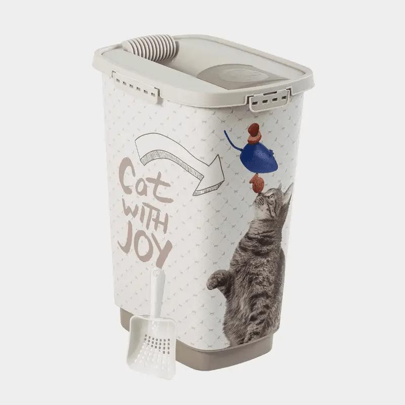 Rotho MyPet Cody Set Futterbehälter + Schaufel - Variante JOY Katze 25 l