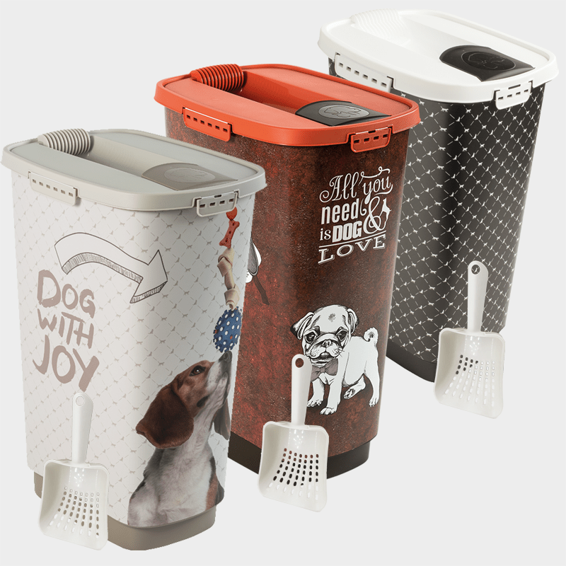 Rotho MyPet Set Futterbehälter + Schaufel - in 3 Varianten, 50 l