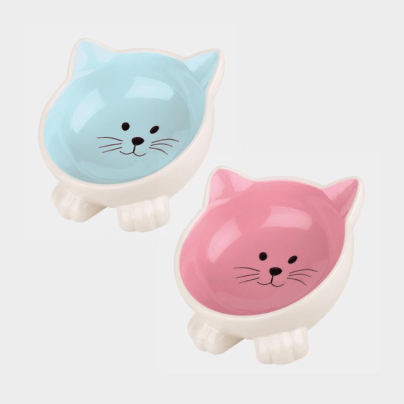 Happy Pet Orb Katzennapf in den Farben blau und pink