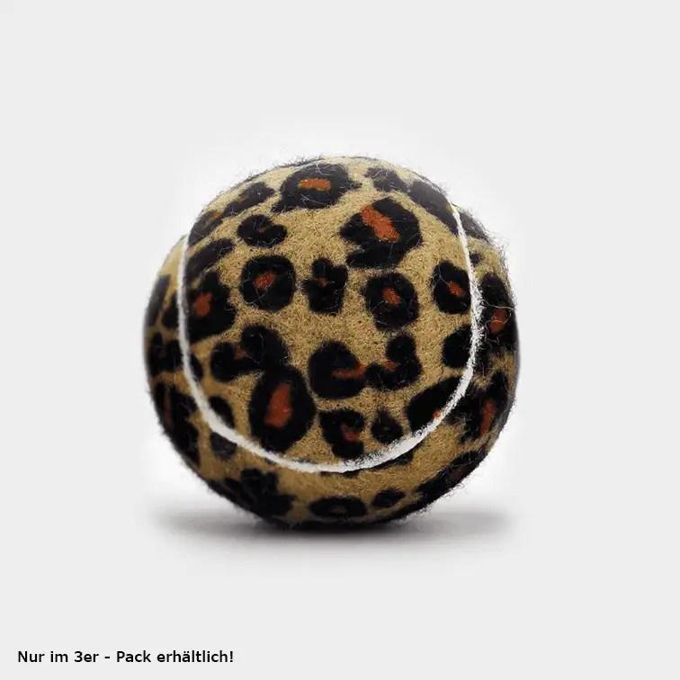 SPORTSPET Tennisball Dschungel Variante einzeln mit Leopardenmuster