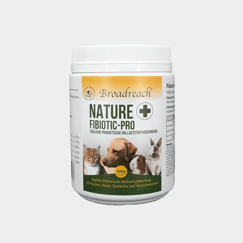 NaturePlus Fibiotic Pro von Broadreach Probiotische Ballaststoffversorgung 1 x 500 g Dose (Pulver) für Hunde, Katzen und Kleintiere