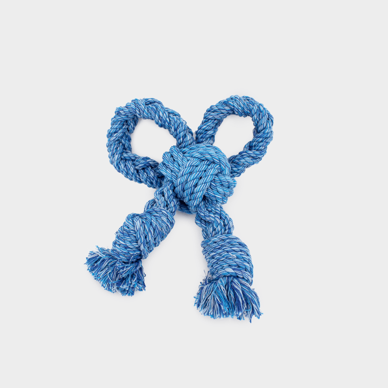 Blue Nuts for Knots bow size S by Happy Pet