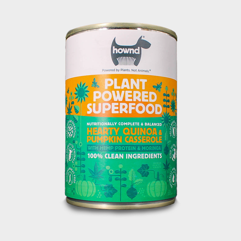 Front view of vegan dog food from HOWND