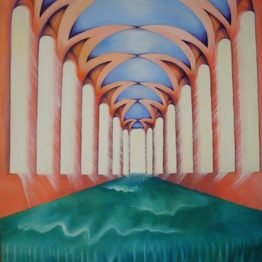 The Flow original large surreal painting by Aalia Rahman