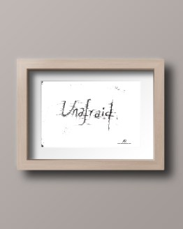 Unafraid framed postcard