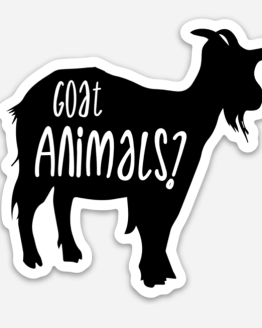 Goat Animals? die cut sticker