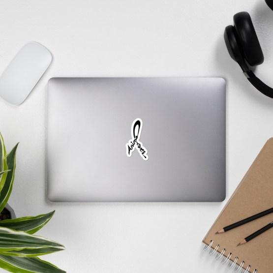 animal lover sticker on laptop