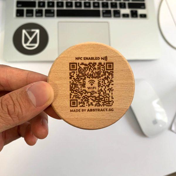 Personalised Wooden Fridge Magnet - WIFI