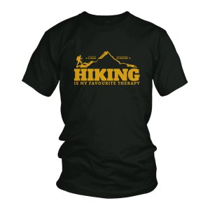 Hiking is my favorite therapy tshirt