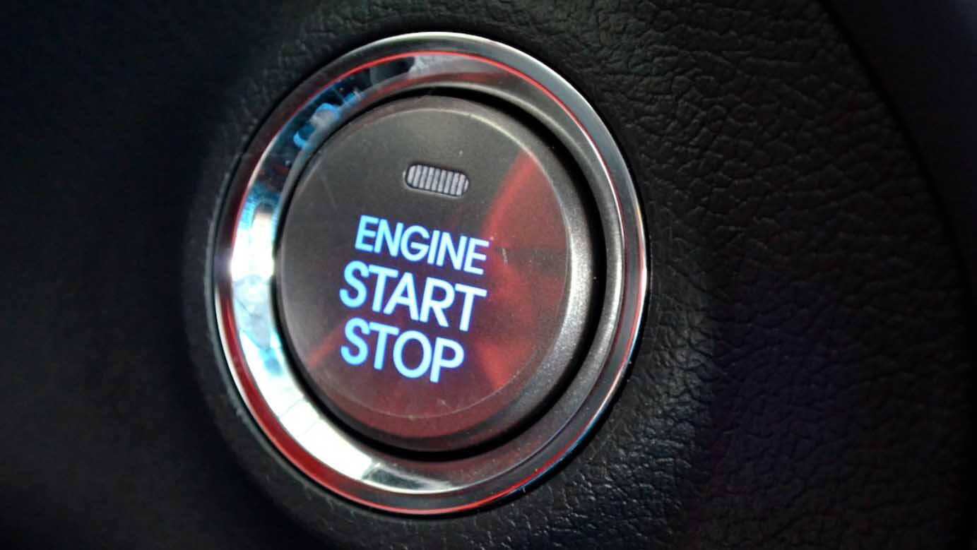 hight resolution of engine start stop button