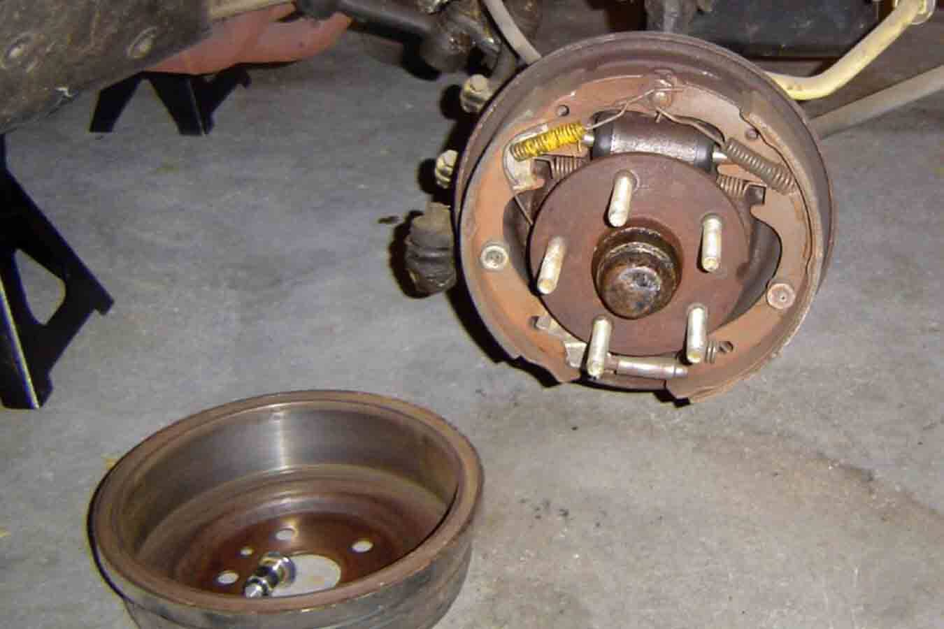 hight resolution of converting drum brakes