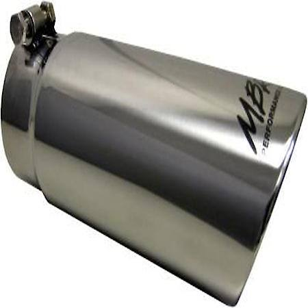exhaust tip 4 inch o d angled rolled end 3 5 inch inlet 10 inch length t304 stainless steel