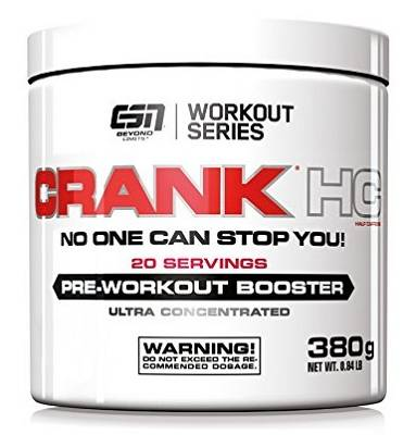 Crank HC (Pre-Workout Booster) - Half Caffeine - 380g - ESN