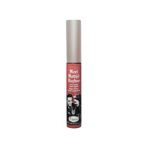 The Balm Hughes Committed Liquid Lipstick Pinky Nude κραγιόν χείλη ματ