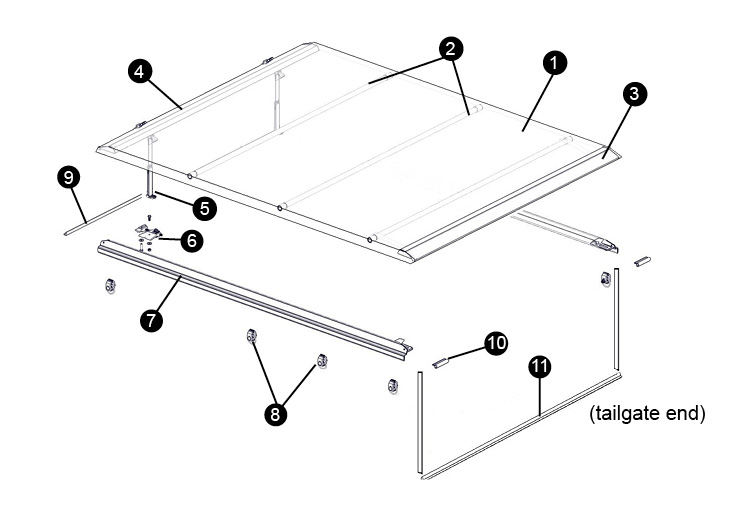 Replacement Parts for Access Limited Edition Tonneau Cover