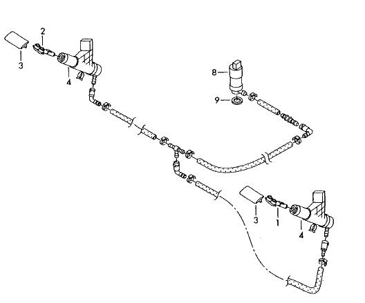 Scheinwerferreinigungsanlage (Passat 3BG) Hubzylinder