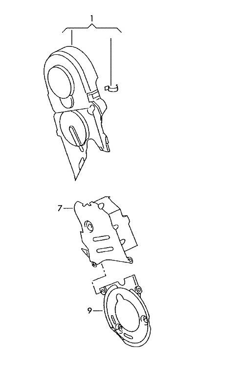 Zahnriemenschutz Abdeckung 1.9 2.0 TDI (Golf V Jetta