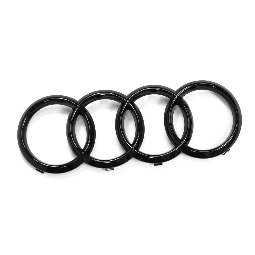 Original Audi-Zeichen Kühlergrill Audi Ringe Black Edition