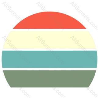 Four Section Four Color Retro Sunset