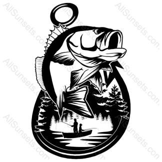 Bass Fishing Boat Vector