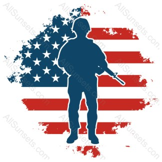 Military Soldier Grunge American Flag