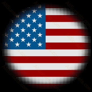 American Flag Halftone Round