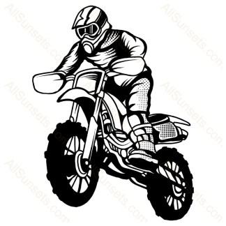 Dirt Bike Motorcycle Vector