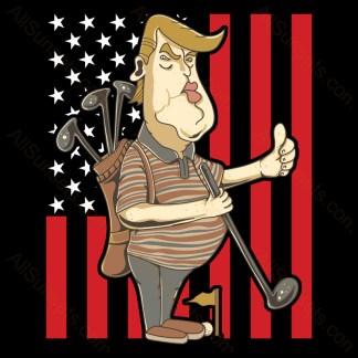 Donald Trump Golf American Flag