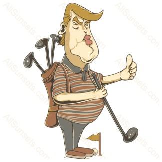 Donald Trump Playing Golf PNG